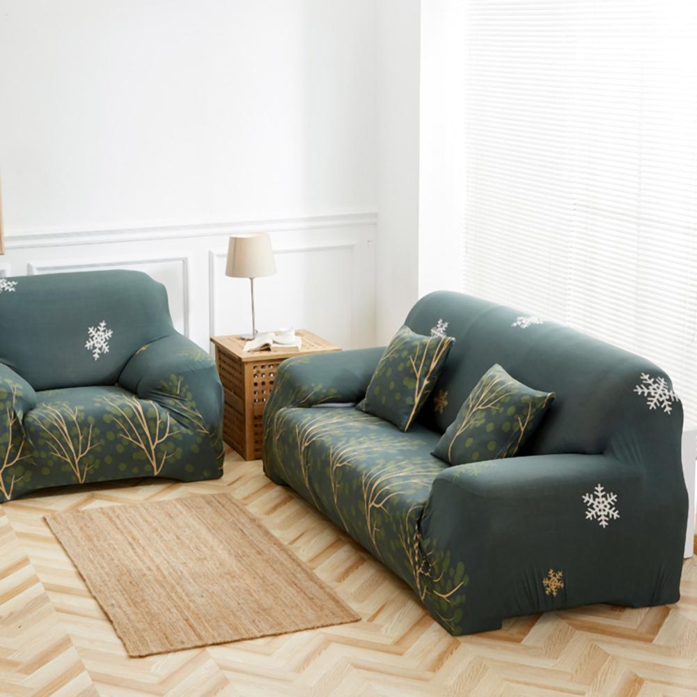 Elastic Thin Sofa Cover Trees Pattern Home Cushion Sofa