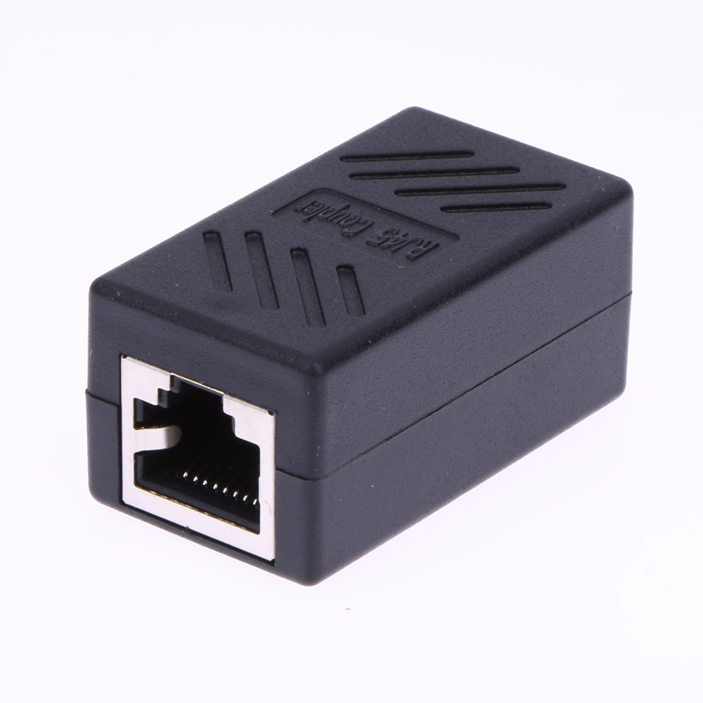 2 rj45 splitter adapter verl ngerung netzwerk lan kupplung. Black Bedroom Furniture Sets. Home Design Ideas