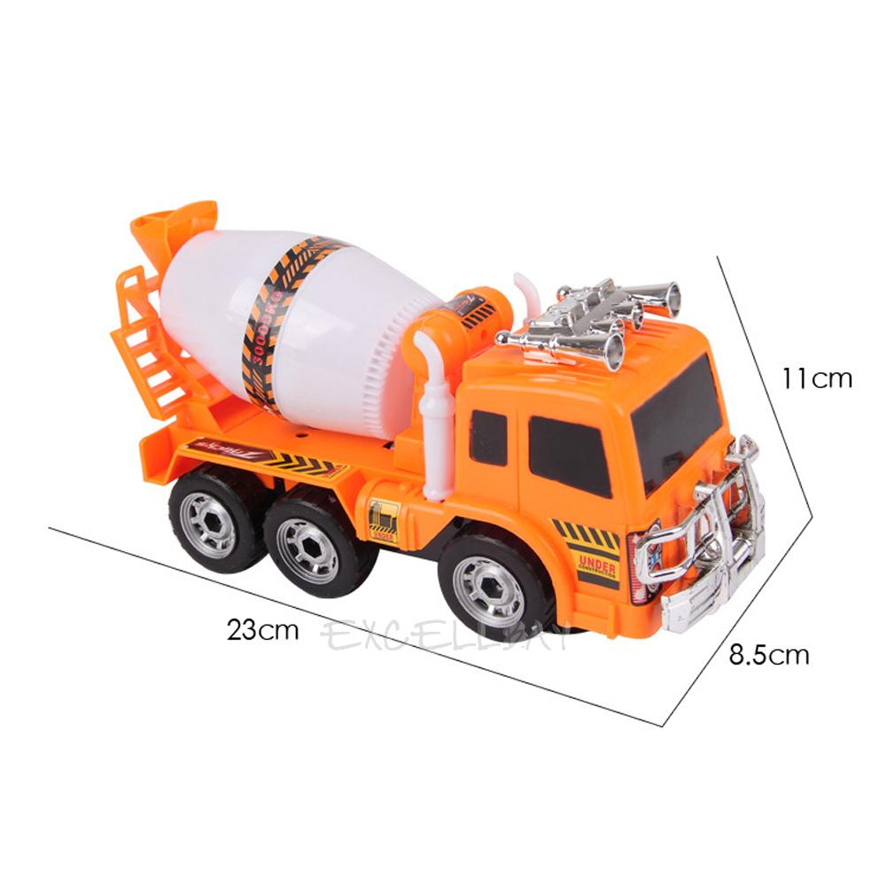 Mixer Truck Toy : Scale large cement mixer truck music flash vehicle