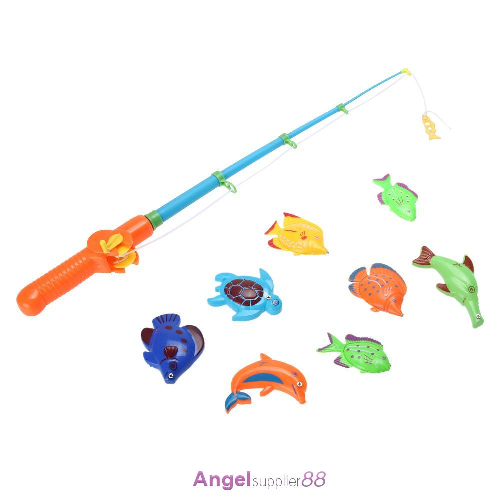 Fishing Game Toy : Educational fish game magnetic fishing pole rod model
