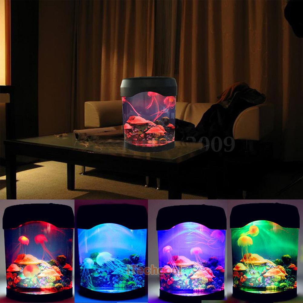 Bedroom Colors Pictures Mood Lighting Bedroom Classic Bedroom Ceiling Design Bedroom Ideas Hgtv: Romantic Jelly Fish Tank Color Changing Water Lamp Bedroom
