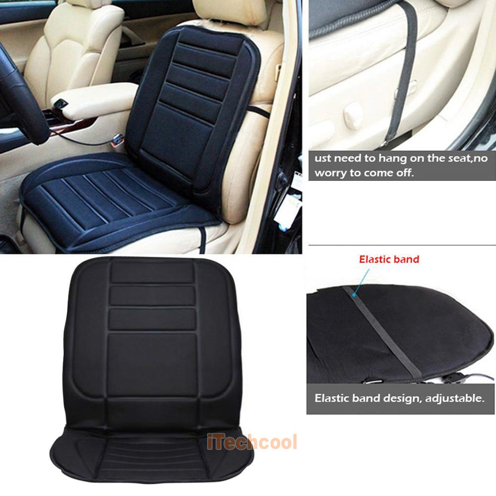 car vehicle van front seat hot heater heated pad cushion winter warmer cover ebay. Black Bedroom Furniture Sets. Home Design Ideas