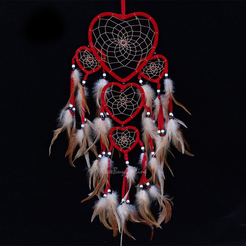 Pictures Of Dream Catchers: Handmade Dream Catcher With Feather Hanging Decoration