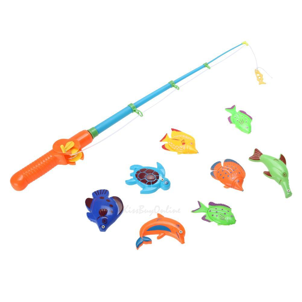 Infant baby kids funny fishing rod magnetic game play fun for Baby fishing pole