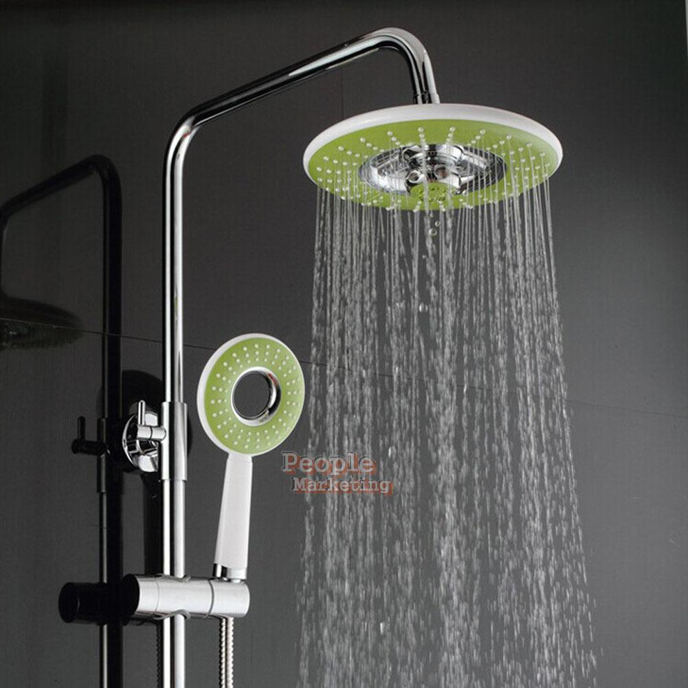 Bathroom Abs Round Spray Rain Rainfall Top Sprayer Hand