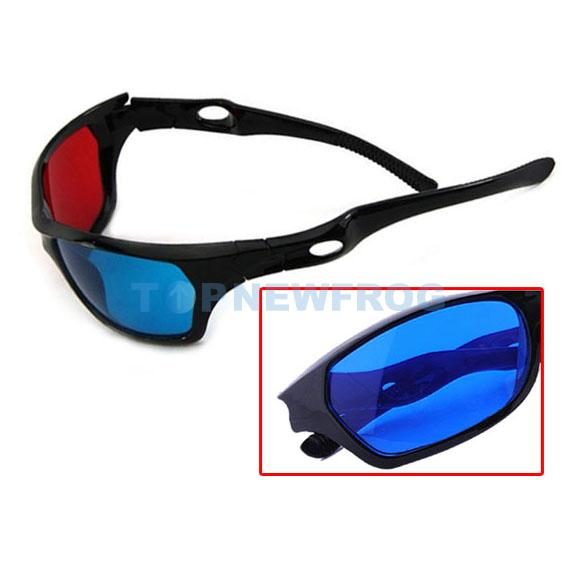 New Red Blue 3D Glasses Black Frame For Dimensional ...