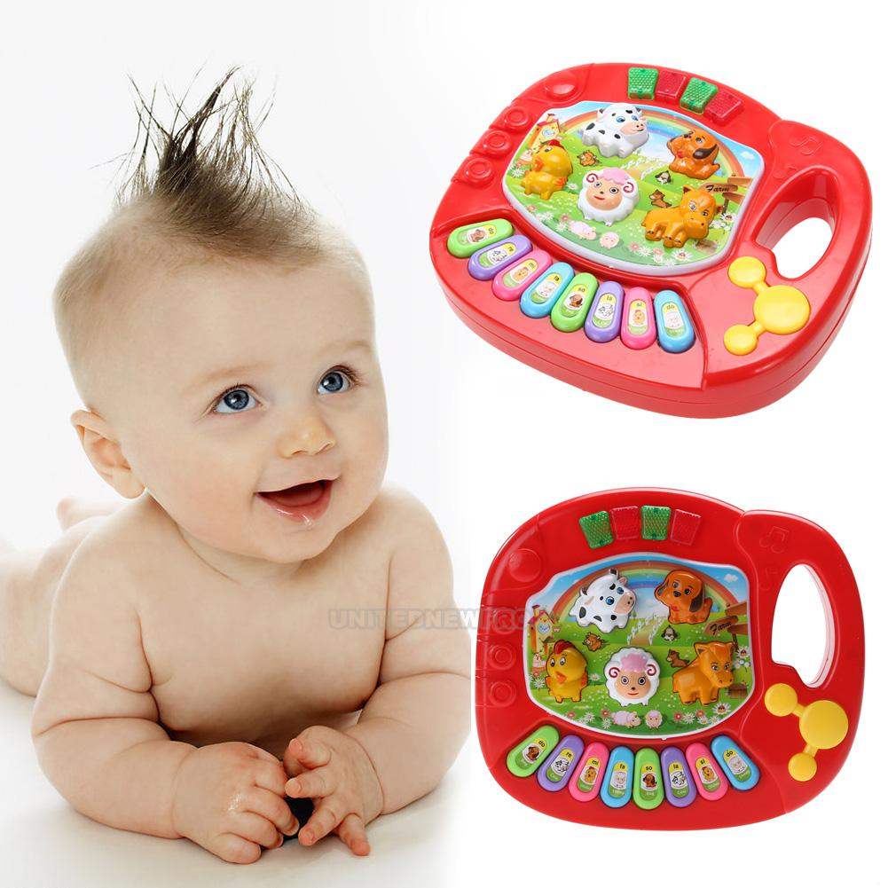 baby kind musical educational animal farm klavier developmental musik spielzeug ebay. Black Bedroom Furniture Sets. Home Design Ideas