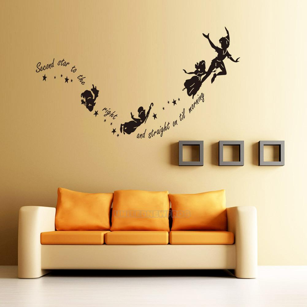 HOT Tinkerbell Star Peter Pan Wall Decal Kids Room Art Mural Home ...