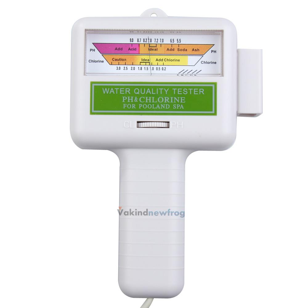 Water Quality Ph Cl2 Chlorine Tester Level Meter For Swimming Pool Spa Favored Ebay