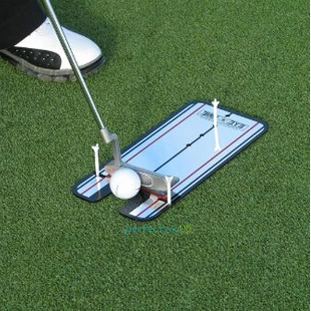golf putting mirror training eyeline alignment practice