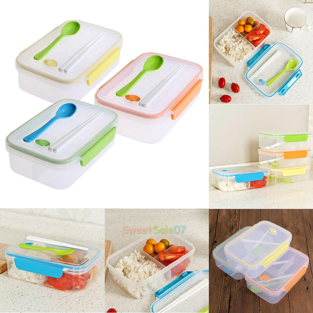 lunch box food container picnic storage portable bento microwave bowl spoon new ebay. Black Bedroom Furniture Sets. Home Design Ideas