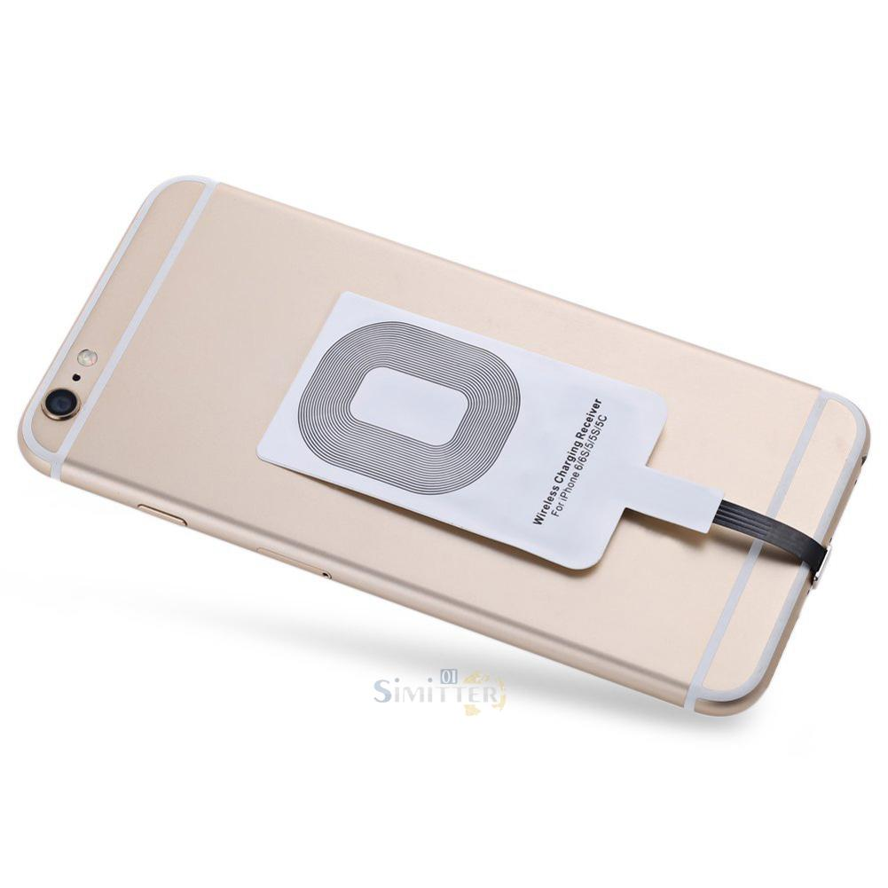 qi wireless charging receiver adapter card for iphone 6. Black Bedroom Furniture Sets. Home Design Ideas