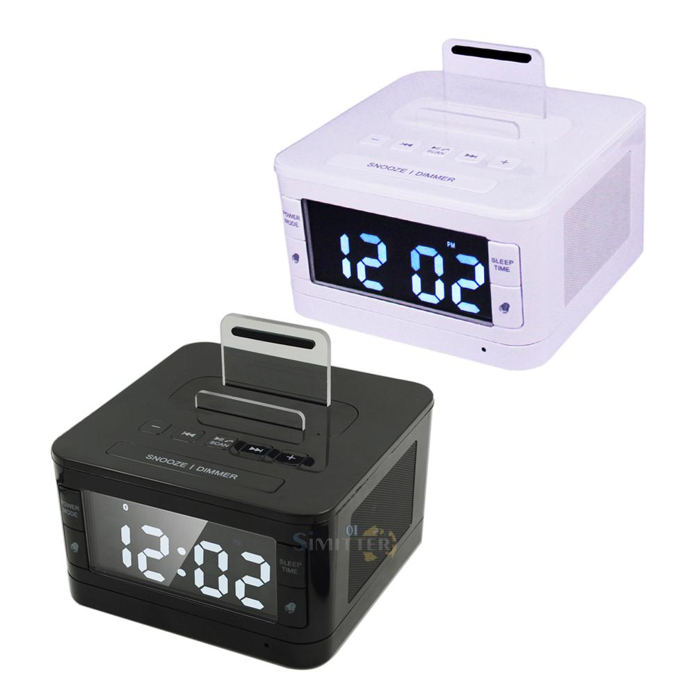 K7 Speaker Dock Station Bluetooth Alarm Clock FM Radio for iPhone Android MP3 LG : eBay