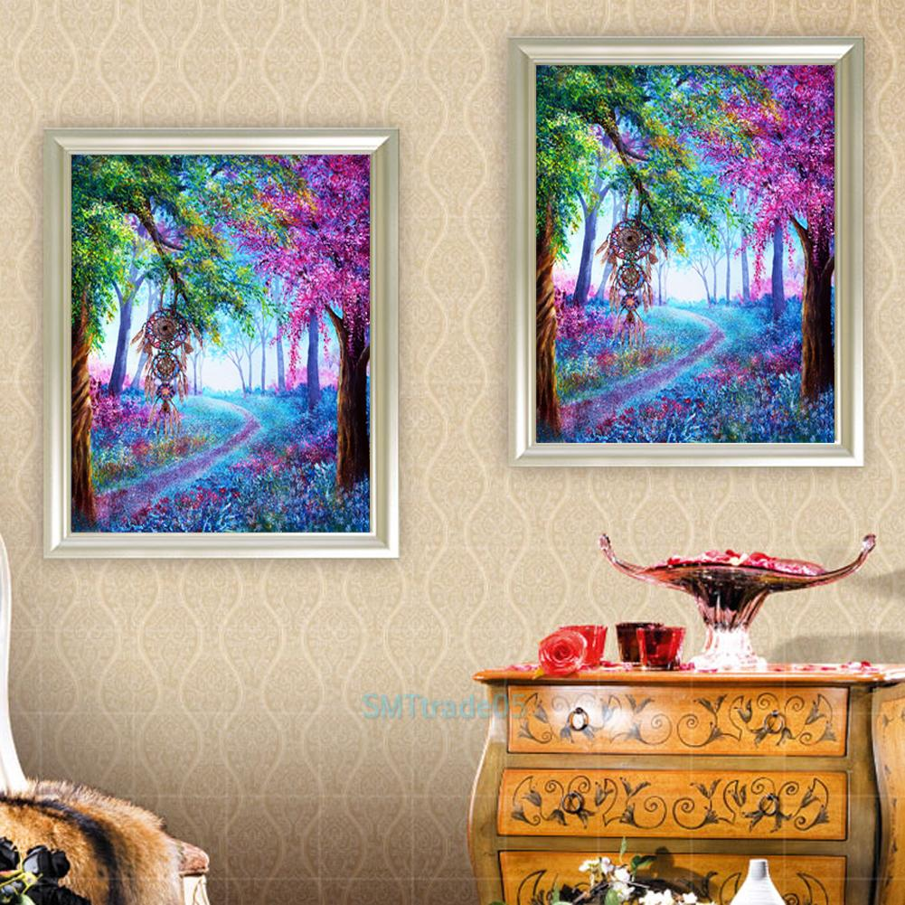 Diy 5d Diamond Painting Tree Embroidery Cross Stitch Crafts Kits Wall Home Decor Ebay