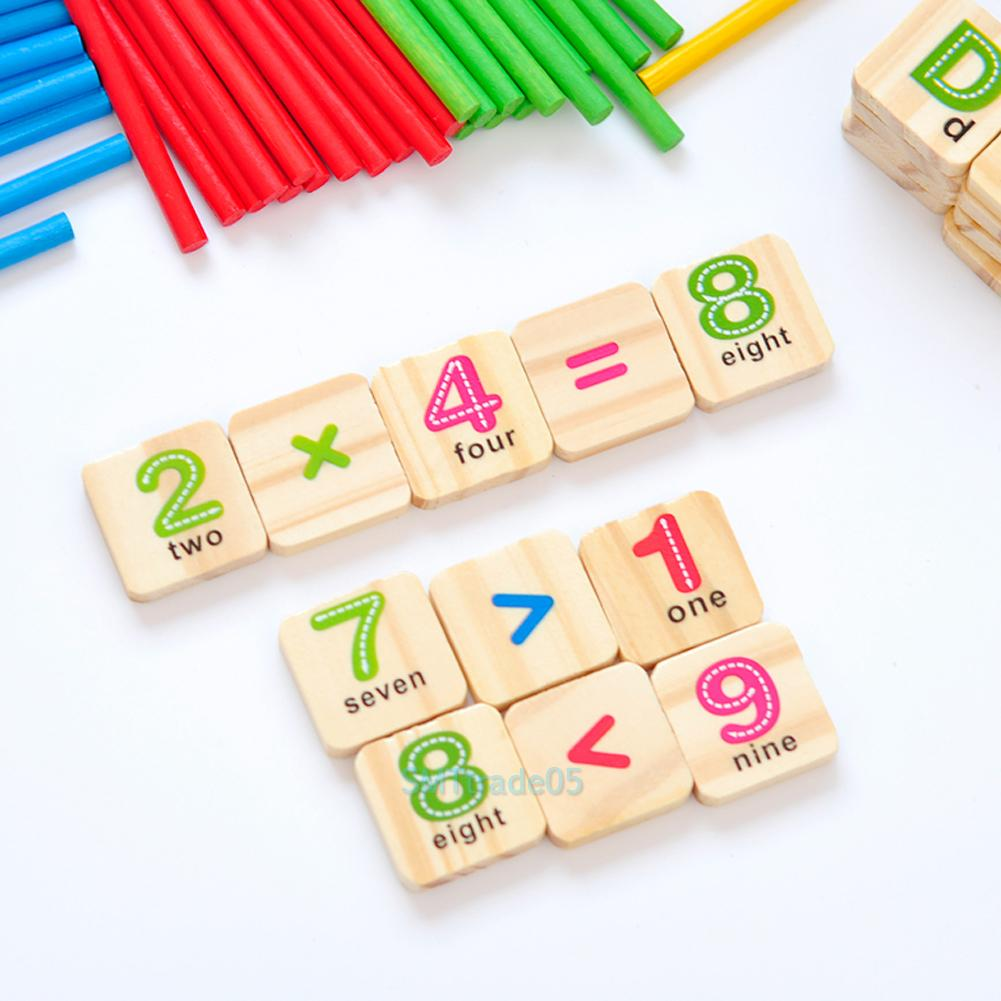 Manipulative Educational Toys : Pcs counting sticks number card math manipulatives