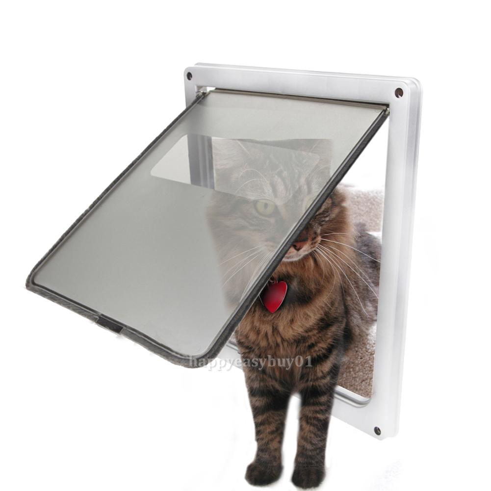 Extra large pet cat dog lockable flap door gate for Dog door flap material