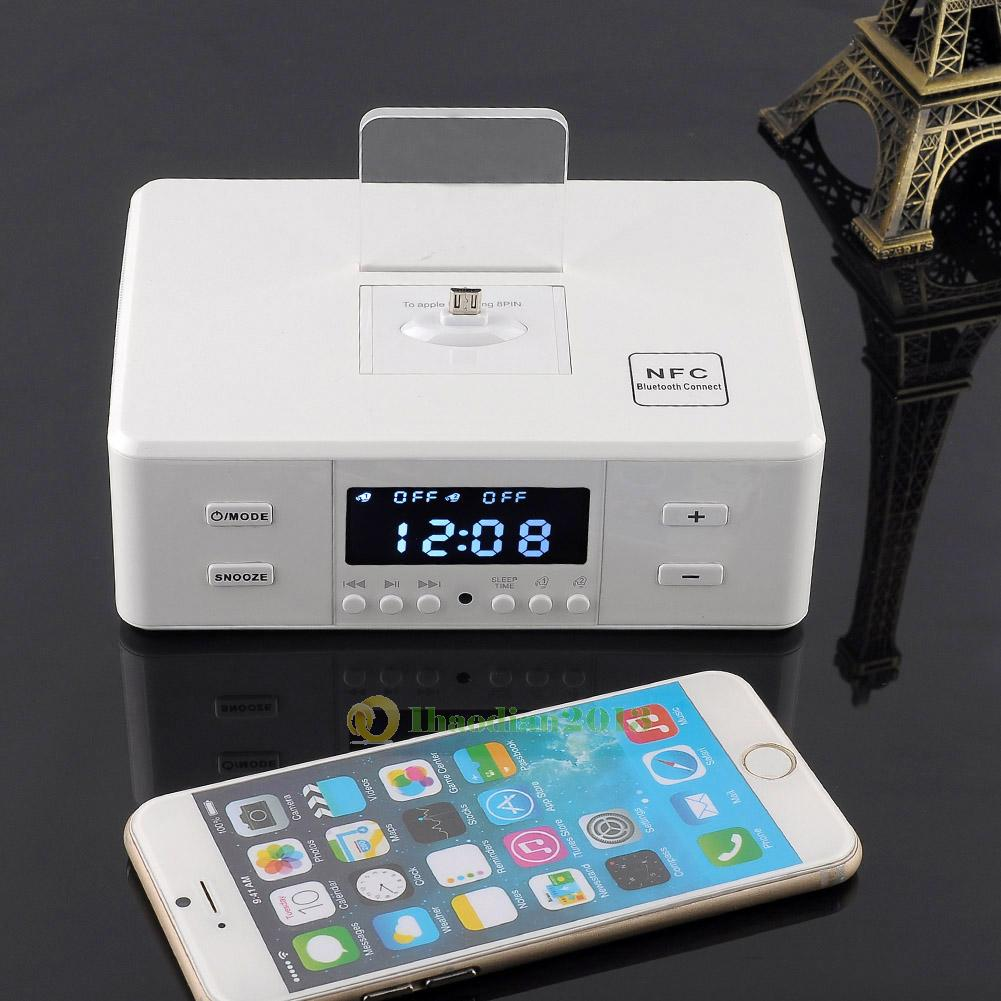 d9 nfc bluetooth speaker charging dock station for iphone7 plus android htc pc ebay. Black Bedroom Furniture Sets. Home Design Ideas