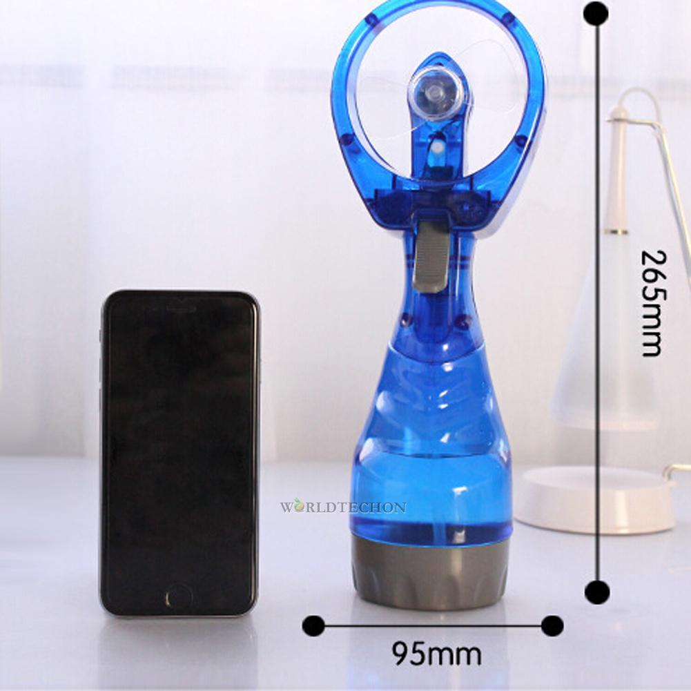 Cool Water Misting Fans : Mini hand held cooling cool water spray misting portable