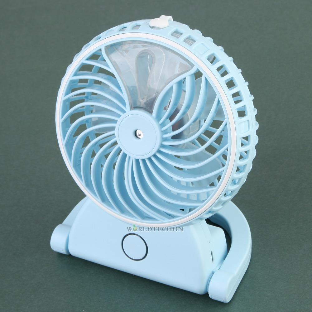 Air Misting Fan : Portable hand held cooling water spray misting fan mist