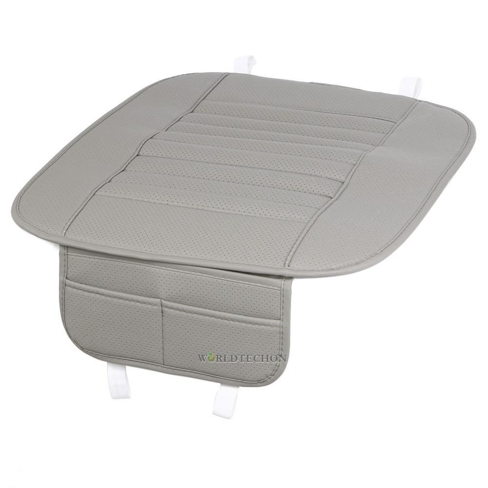 Car Front Seats Cover PU Leather Grey Single Bucket Seat