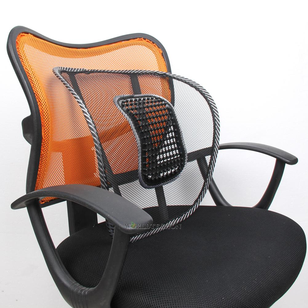 vent massage cushion mesh back lumber support office chair desk car seat pad ebay. Black Bedroom Furniture Sets. Home Design Ideas