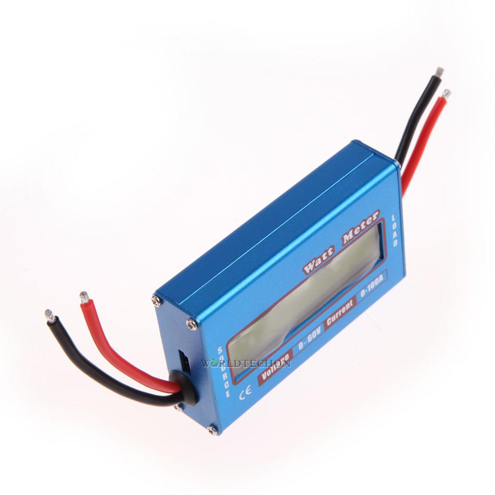 Digital Lcd Watt Meter Power Volt Amp Meter Rc Battery