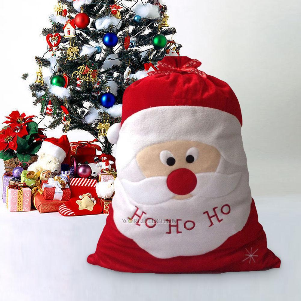 Christmas santa claus sack bag large candy bags xmas