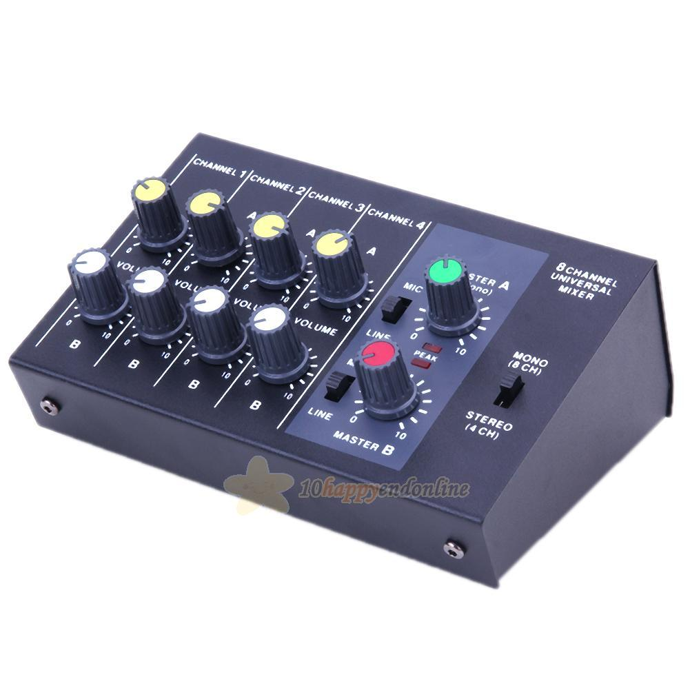Professional 8 Channel Live Digital Mixing Studio Audio Sound Mixer Stereo For Microphone With 2 Channels Pictures