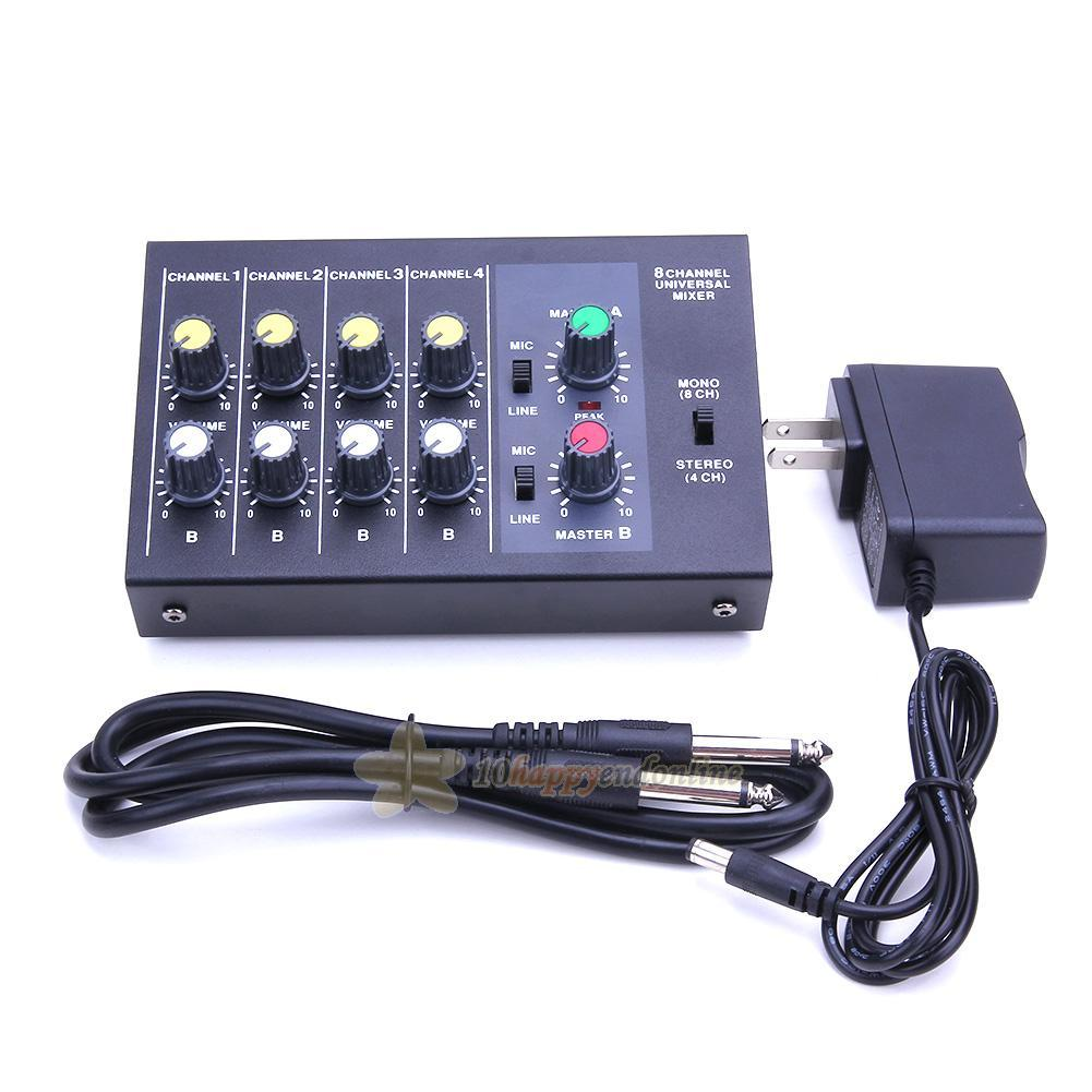 Details about Professional 8 Channel Live Digital Mixing Studio Audio Sound  Mixer Console 150W