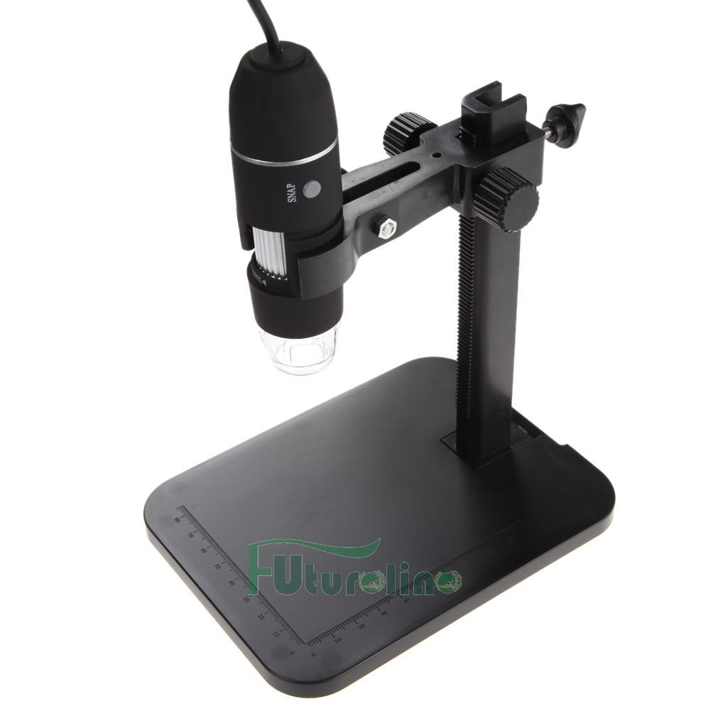 101921-1 USB Digital Microscopio Endoscopio 1000X 8 LED Lupa Cámara + Soporte Levante ES