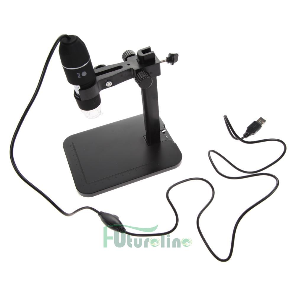 101921-8 USB Digital Microscopio Endoscopio 1000X 8 LED Lupa Cámara + Soporte Levante ES
