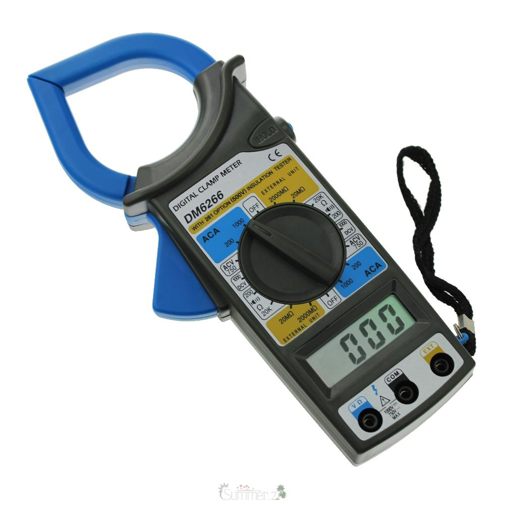 Voltage Clamp Meter : Dm lcd digital multimeter clamp meter ac dc current