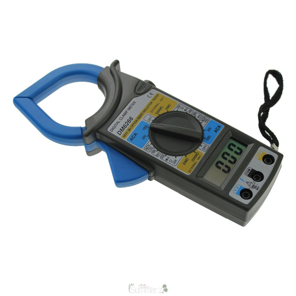 Dc Voltage Tester : Dm lcd digital multimeter clamp meter ac dc current
