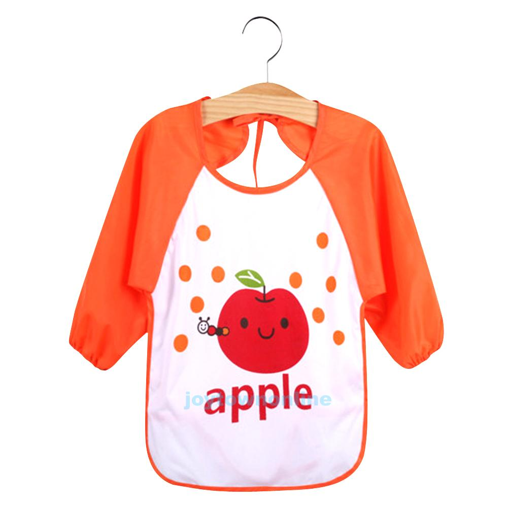 Waterproof Baby Toddler Long Sleeve Children Kids Feeding
