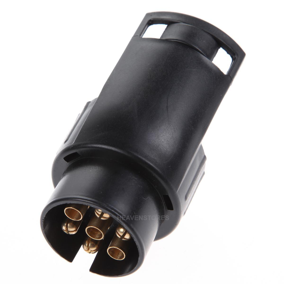 adapter 13 auf 7 polig anh nger pkw auto stecker kurzadapter steckdose neu ebay. Black Bedroom Furniture Sets. Home Design Ideas