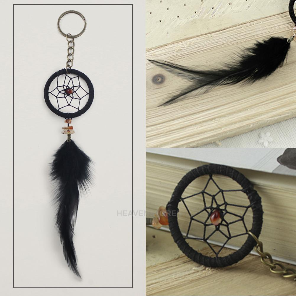 capteur de r ve attrape r ve tenture murale voiture porte cl plume dreamcatcher ebay. Black Bedroom Furniture Sets. Home Design Ideas