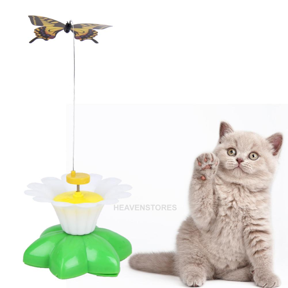 jouet pour chat electrique papillon fleur rotation animal jeux cat chaton ebay. Black Bedroom Furniture Sets. Home Design Ideas