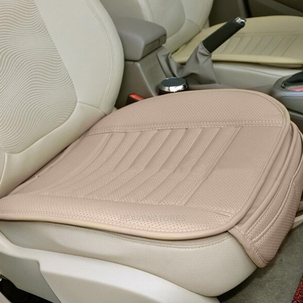 universal pu leather car seat cover bamboo slip front seat cushion protector mat ebay. Black Bedroom Furniture Sets. Home Design Ideas