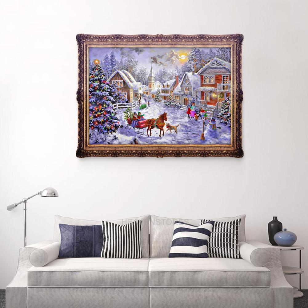 Christmas Snow Carriage 5d Diamond Diy Painting Craft Kit Home Decor Ebay
