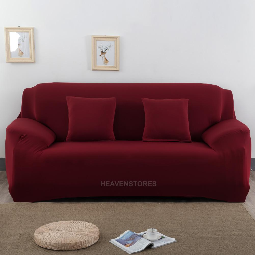 Stretch slipcover chair love seat sofa futon recliner for Housse pour sofa