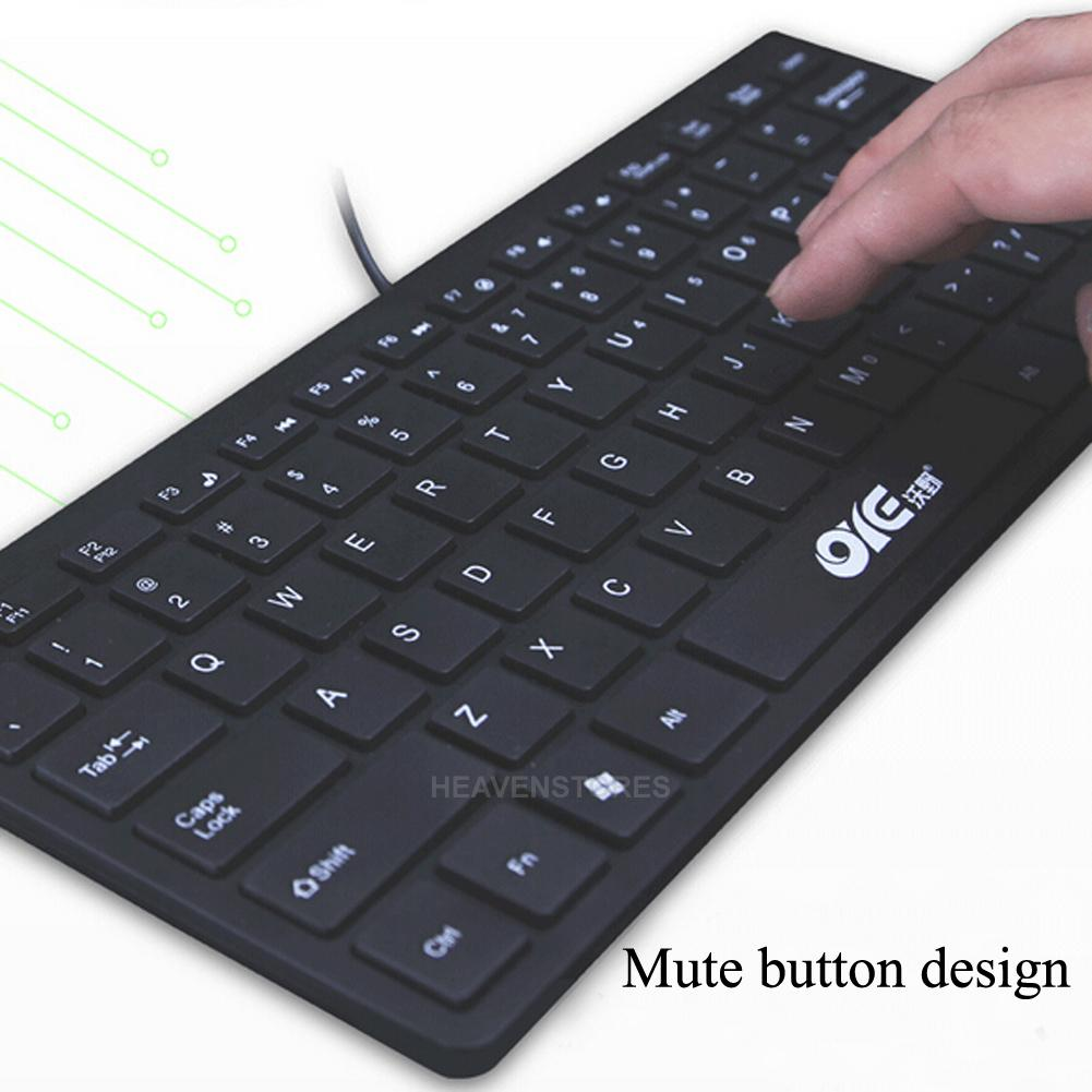 mini keyboard clavier pour ordinateur portable ultra mince mute usb c ble wired ebay. Black Bedroom Furniture Sets. Home Design Ideas