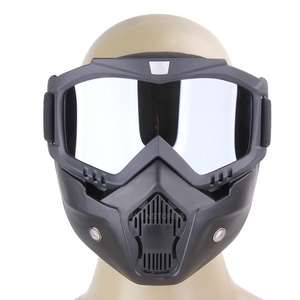 s curit moto lunette masque casque de protection d tachable l ger riding shield ebay. Black Bedroom Furniture Sets. Home Design Ideas