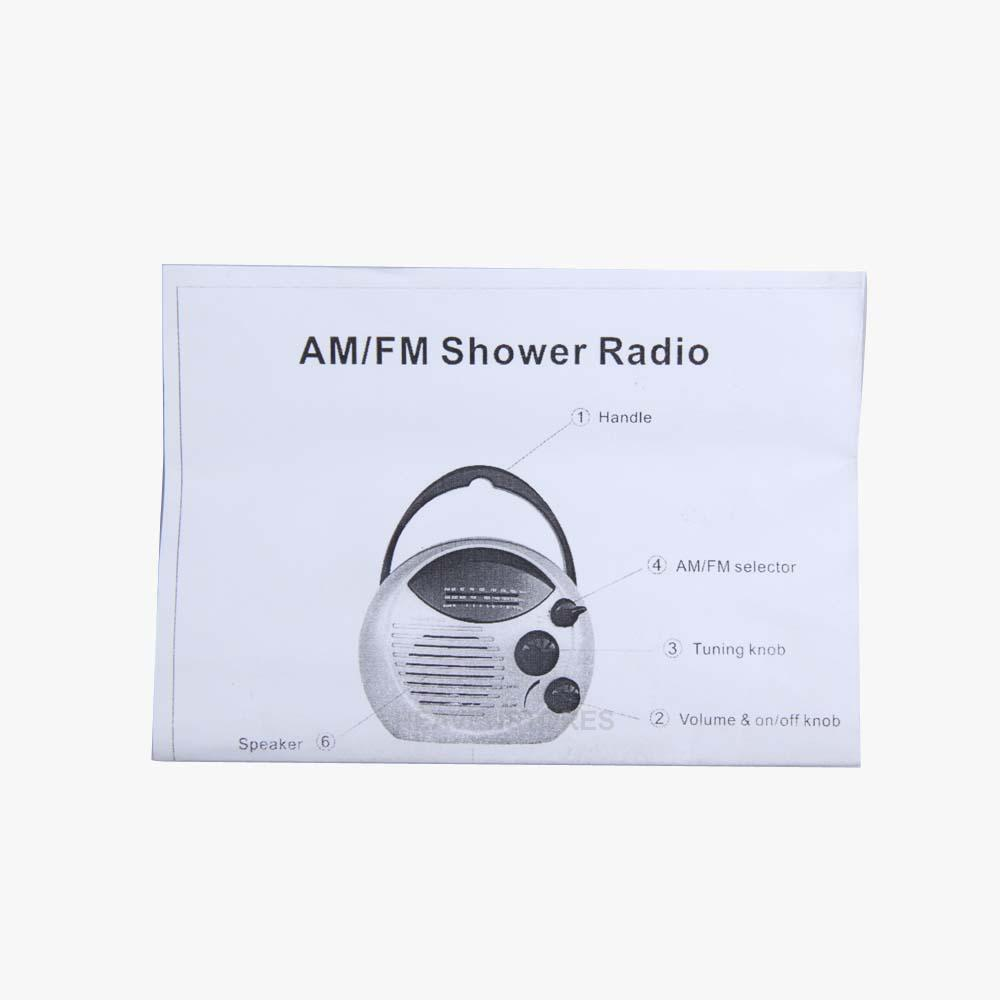 Am fm radio salle de bain douche suspension waterproof for Radio etanche salle de bain