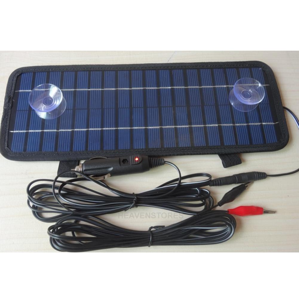 4 5w 12v smart power solar ladeger t f r auto boots. Black Bedroom Furniture Sets. Home Design Ideas