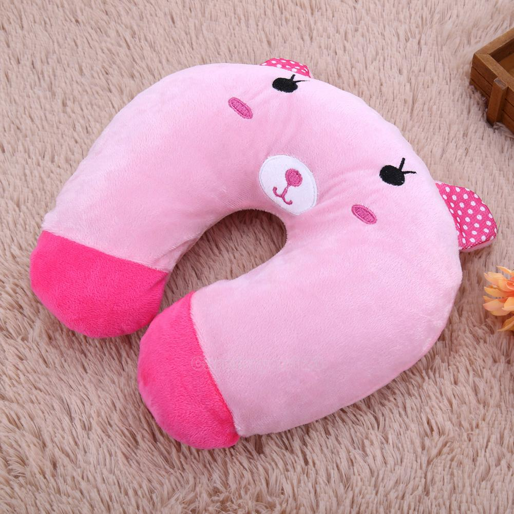 Animal Shaped Massage Pillow : U-shaped Plush Pillow Cartoon Animal Car Neck Support Head Rest Travel Pillow eBay