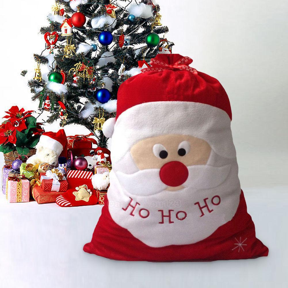 Christmas santa claus large sack bag candy bags xmas